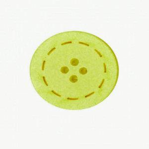 Botón color Limón de Algodón reciclado