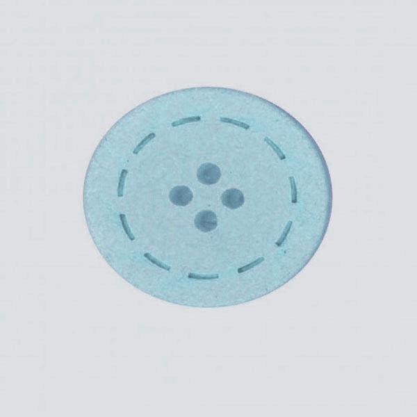 Botón color Celeste de Algodón reciclado