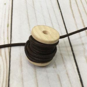 Cordón de cuero marrón