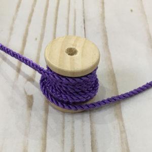 Cordón de rayón mediano morado