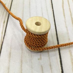 Cordón de rayón mediano color teja
