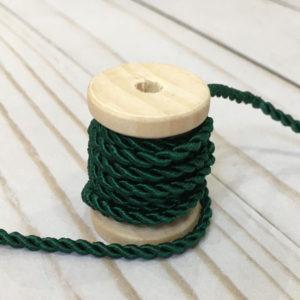 Cordón de rayón mediano verde bosque