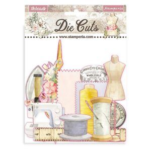 die cuts chipboards threads