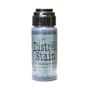 distress stain iced spruce