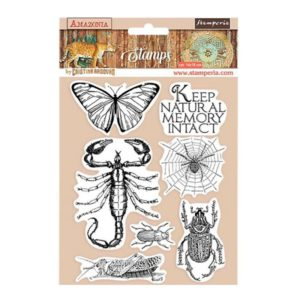 sellos de caucho mariposa amazonia