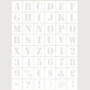 stencil deco abecedario
