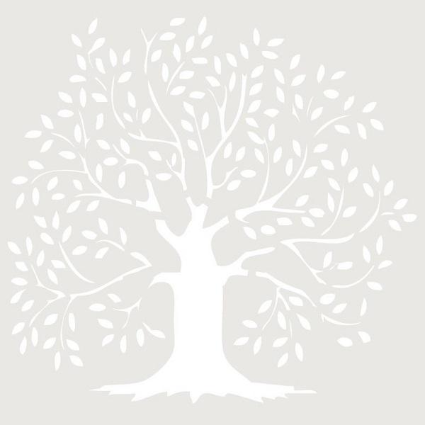 stencil deco figura arbol