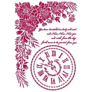stencil reloj journal