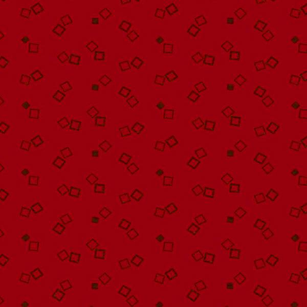 Tela geométrica color rojo Bear Essentials