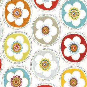 Tela Flores con el fondo blanco