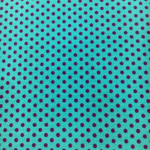 Tela topitos con el fondo en color turquesa