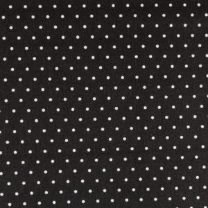Tela topitos blancos con el fondo en color negro