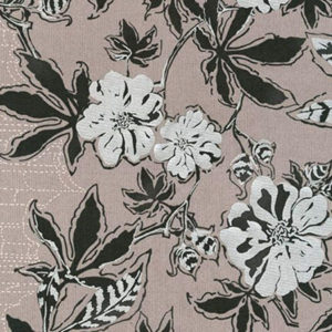 Tela Estampada flores gris irisado