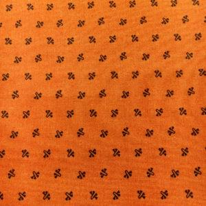 Tela Estampada naranja de Paula Barnes