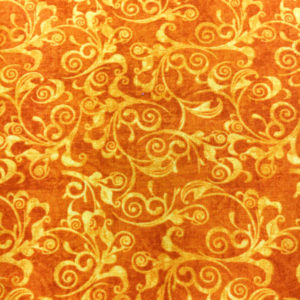 Tela Estampada naranja - Quilting Treasures