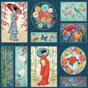 Panel Michiko estampado japonés