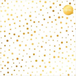 Acetato Foil Puntos dorados