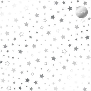 Acetato Foil Estrellas plateadas