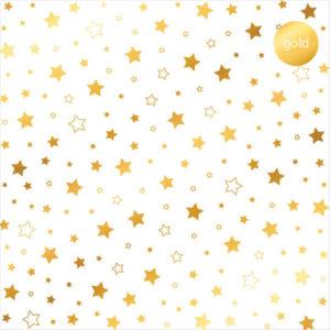 Acetato Foil Estrellas doradas