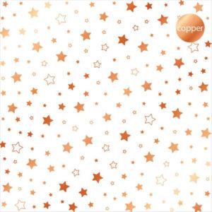 Acetato Foil Estrellas cobre