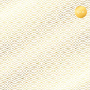 Acetato Foil Rombos dorados