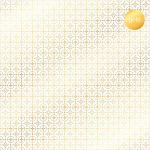 Acetato Foil Círculos dorados