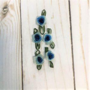 aplicacion para coser flores azul