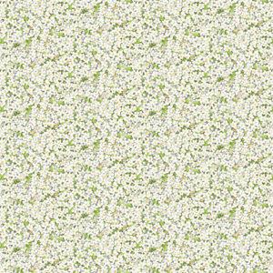 tela florecitas blanco