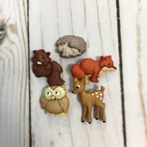 Botones Animales del bosque