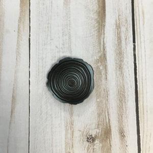 Botón flor color gris plomo