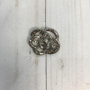 Botón flor plateada