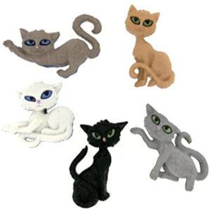 Botones Gatos