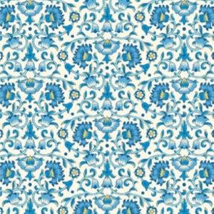 tela culodden vine azul