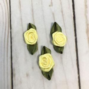 Aplicación para coser flores amarillas