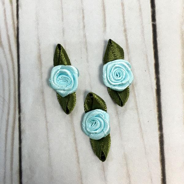 Aplicación para coser flores azules