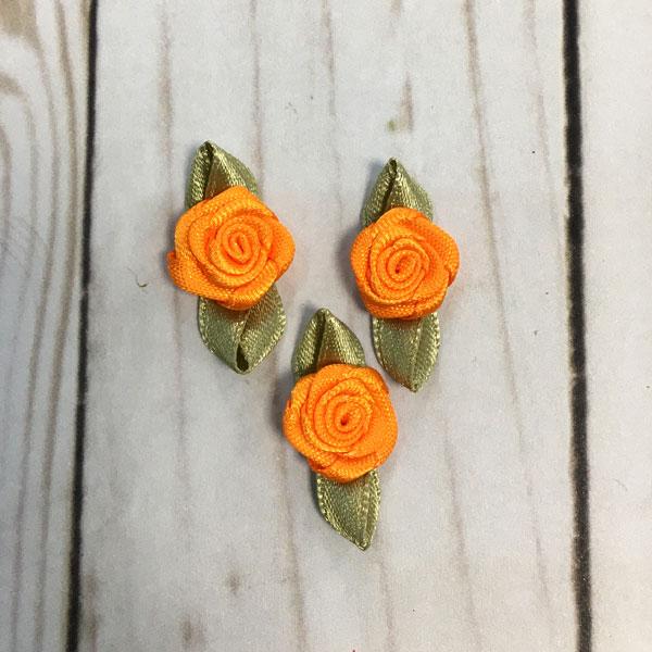Aplicación para coser flores naranja