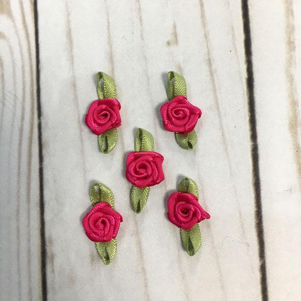Pack Aplicaciones flores color rosa