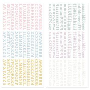 mini alfabetos puffy petalos