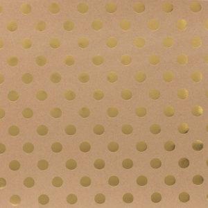 papel kraft lunares dorados