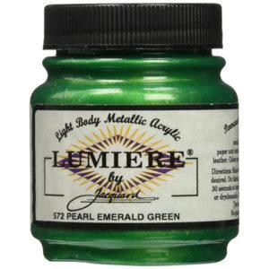 Pintura lumiere esmeralda perlado