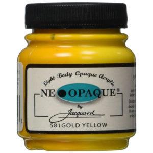 pintura neopaque amariillo dorado