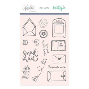 set de sellos snail mail