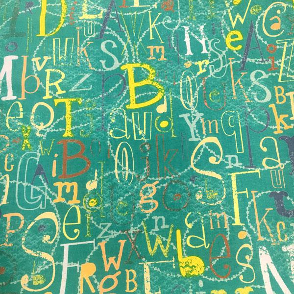 Tela Estampada letras