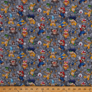 Tela Super Mario y sus rivales