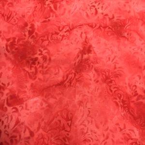 Tela Batik color rojo