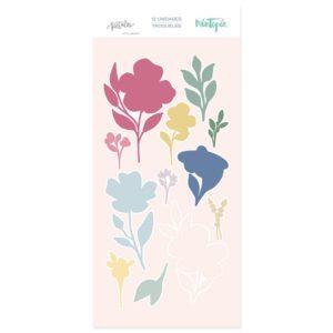 troqueles set de flores sellos