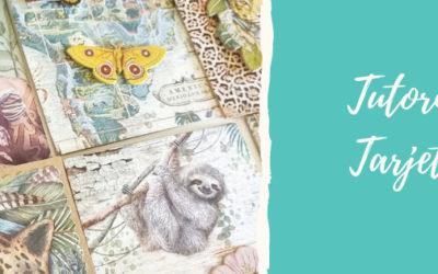 Tarjetería scrapera – Colección Amazonia de Stamperia