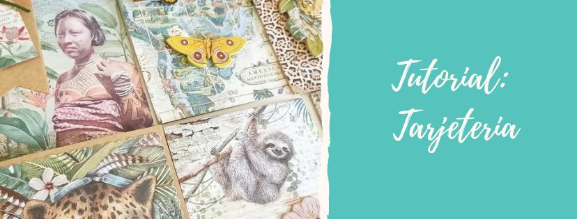 Tarjetas creativas – Colección Amazonia de Stamperia