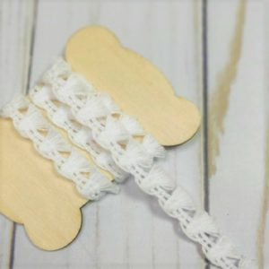 cinta flequitos color blanco