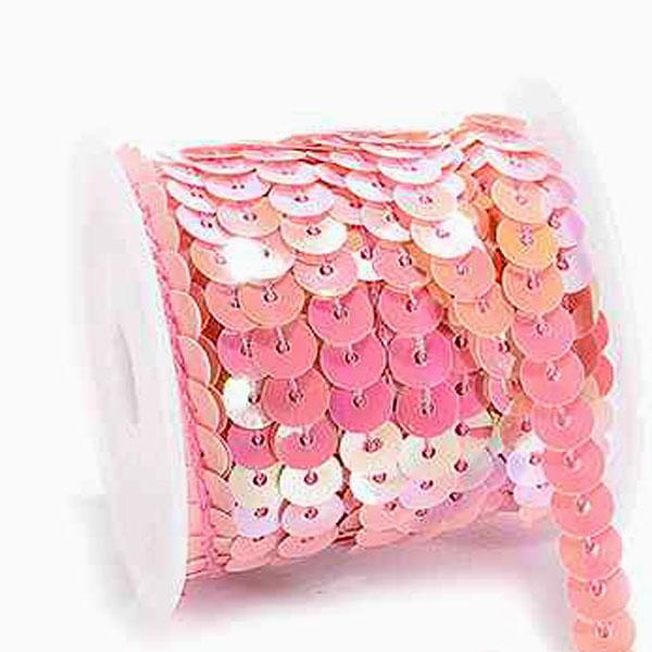 Tira con lentejuelas color rosa